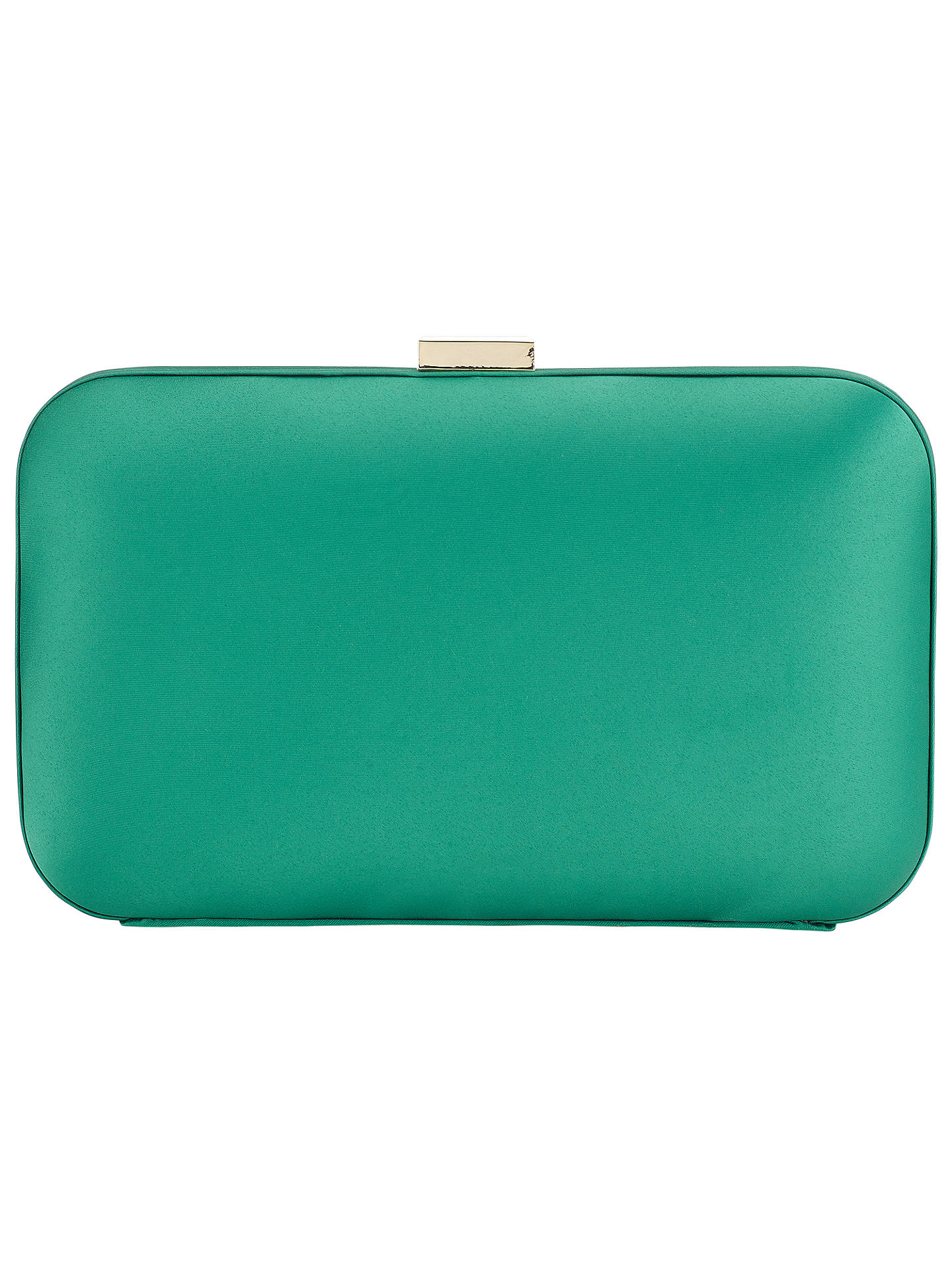 Buy John Lewis Rebecca Box Clutch Bag, Green Online at johnlewis.com
