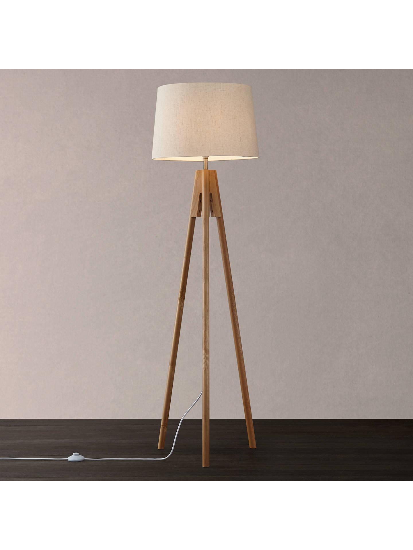 John Lewis & Partners Hampstead Wooden Tripod Floor Lamp