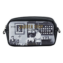 Buy Catseye Barber Shop Small Wash Bag, Black Online at johnlewis.com