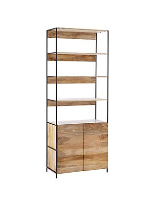 west elm Industrial Modular 84cm Open and Closed Storage Bookshelf