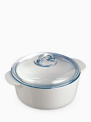 Buy Pyrex Flame 2L Casserole Dish Online at johnlewis.com