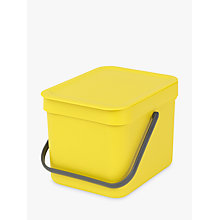 Buy Brabantia Sort & Go Built-In Bin, Yellow, 6L Online at johnlewis.com