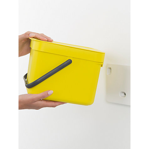 Buy Brabantia Sort & Go Built-In Bin, Yellow, 6L | John Lewis