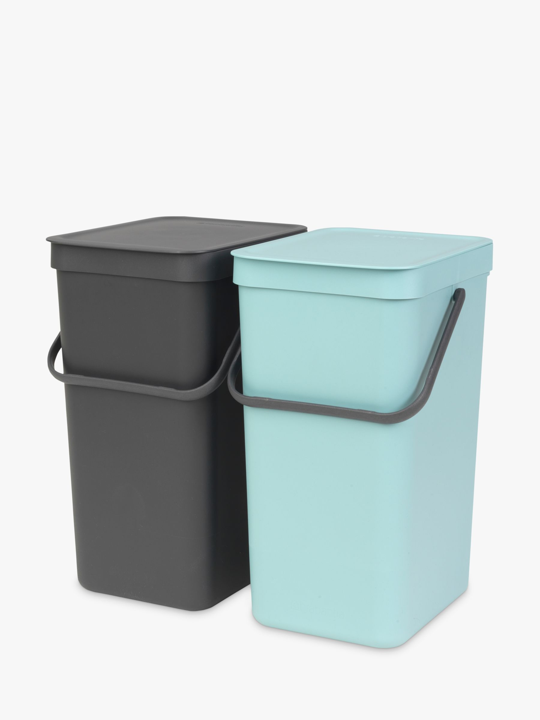 Brabantia Brabantia Sort & Go Built-In Bin, Grey / Mint, 2 x 16L