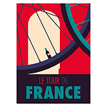 Buy Spencer Wilson - Le Tour De France Unframed Print, 40 x 30cm Online at johnlewis.com