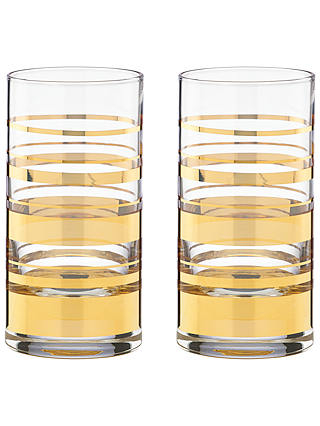 Buy kate spade new york Hampton Street Highballs, Set of 2 Online at johnlewis.com