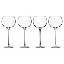 Buy kate spade new york Larabee Dot Etched Wine Glasses, Set of 4 Online at johnlewis.com