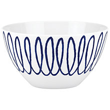 Buy kate spade new york Charlotte Street East Cereal Bowl, White / Blue Online at johnlewis.com