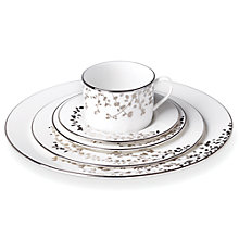 Buy kate spade new york Gardener St Platinum Bone China Place Setting, 5 Pieces, Silver/ White Online at johnlewis.com