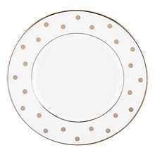 Buy kate spade new york Larabee Road Platinum Bone China Saucer, Silver/ White Online at johnlewis.com