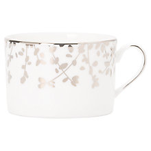 Buy kate spade new york Gardener St Platinum Bone China Teacup, Silver/ White Online at johnlewis.com