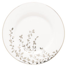Buy kate spade new york Gardener St Platinum Bone China Saucer, Silver/ White Online at johnlewis.com