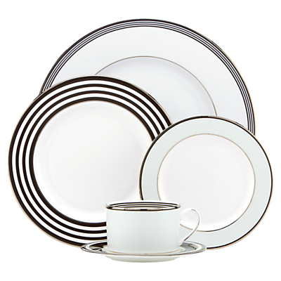kate spade new york Parker Place Platinum Rim Place Setting, 5 Pieces