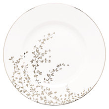 Buy kate spade new york Gardener St Platinum Bone China 27cm Dinner Plate, Silver/ White Online at johnlewis.com