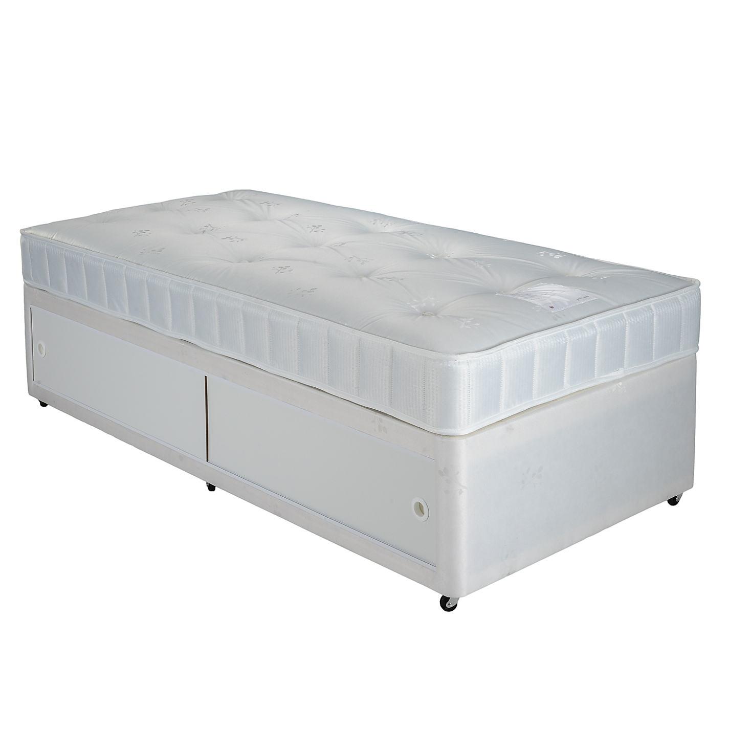 John Lewis The Basics Collection Comfort Slide Divan Storage Bed And Mattress Set