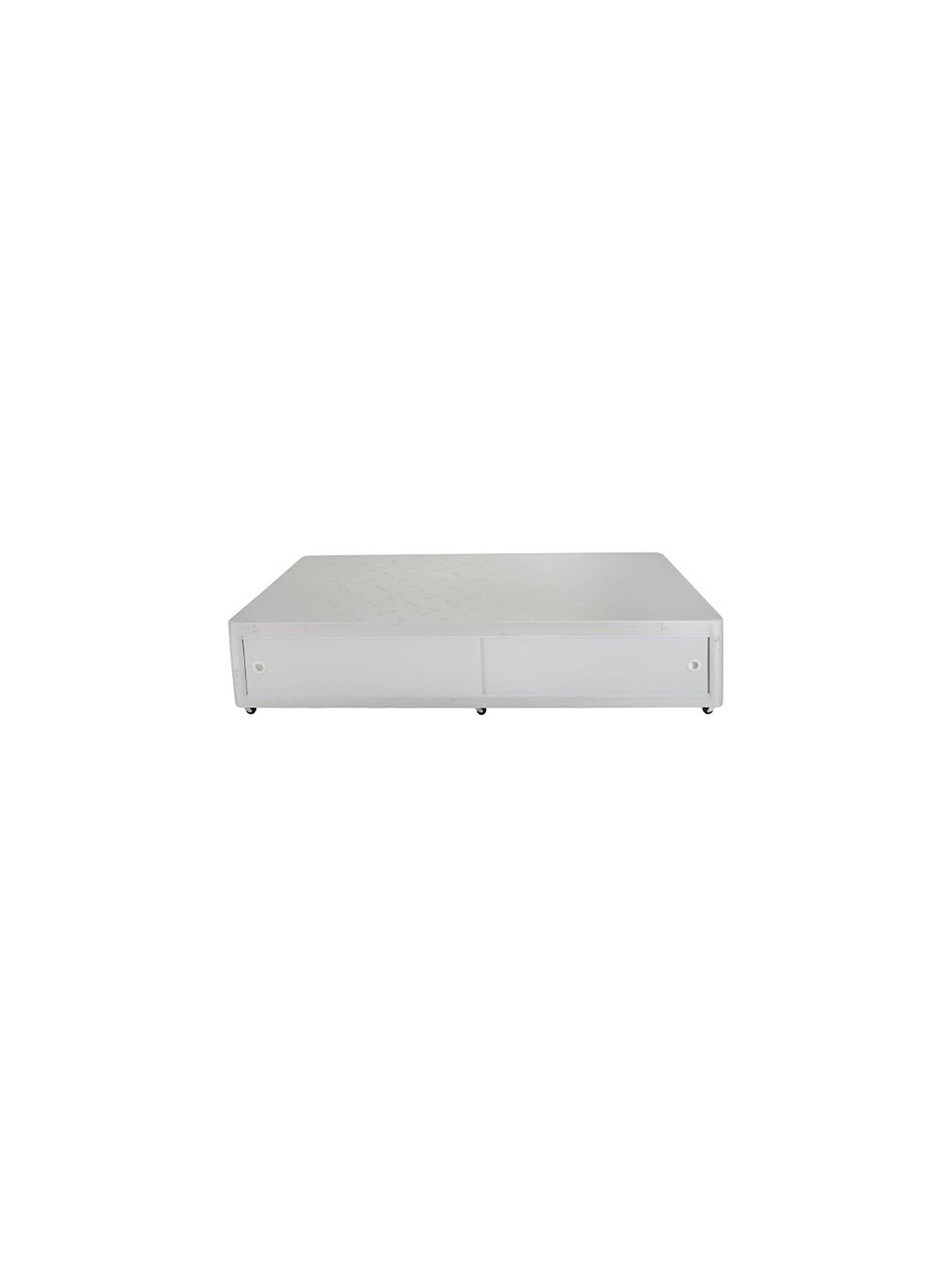 Buy John Lewis & Partners The Basics Collection Comfort Slide Store Divan Storage Bed and Mattress Set, Single Online at johnlewis.com