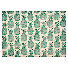 Buy John Lewis Pineapple Placemats, Set of 2, Green/Cream Online at johnlewis.com