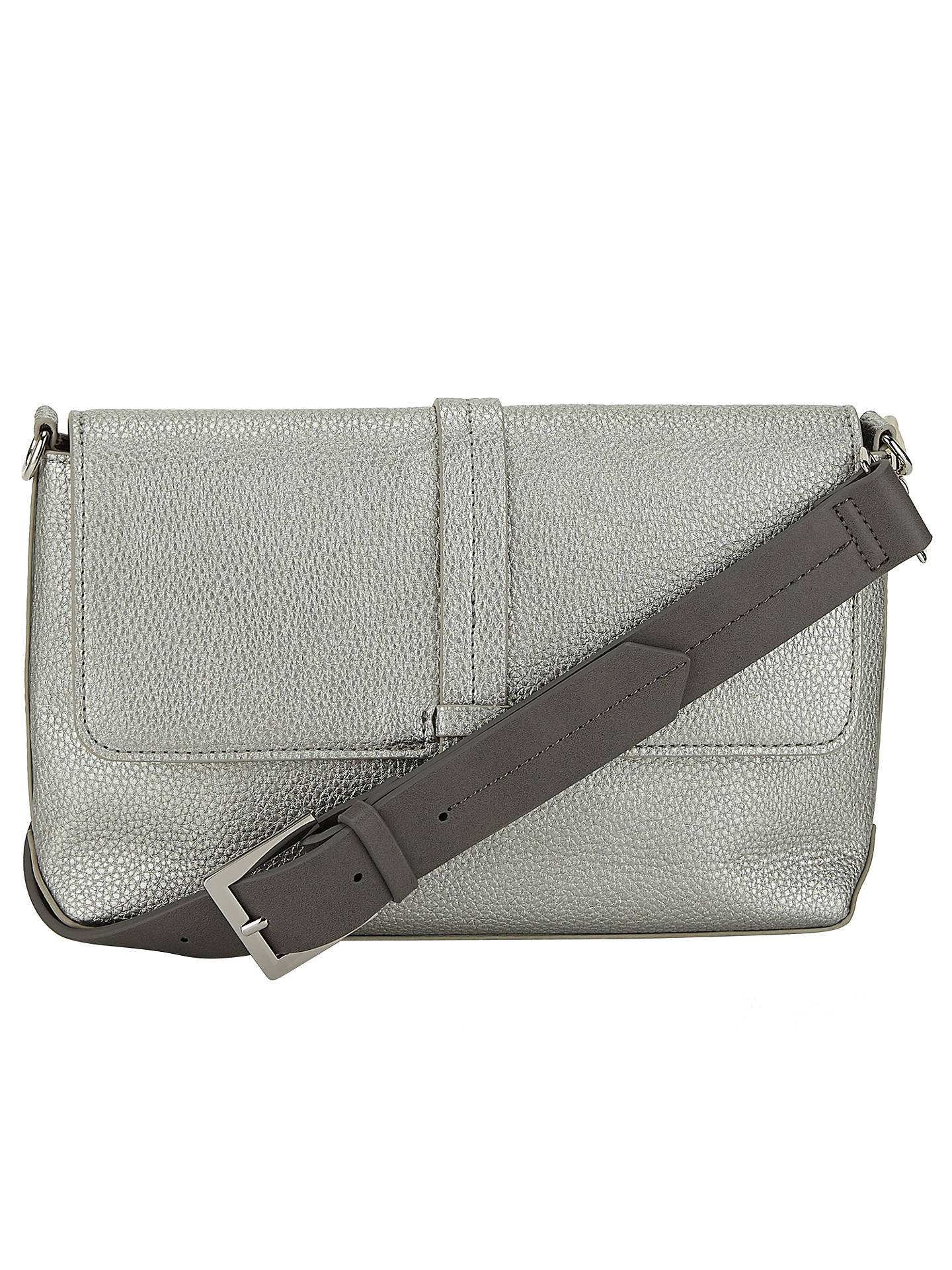 BuyKin by John Lewis Katie Mix Texture Across Body Bag, Silver Online at johnlewis.com