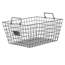 Buy John Lewis Croft Collection Antique Wire Basket, Large Online at johnlewis.com