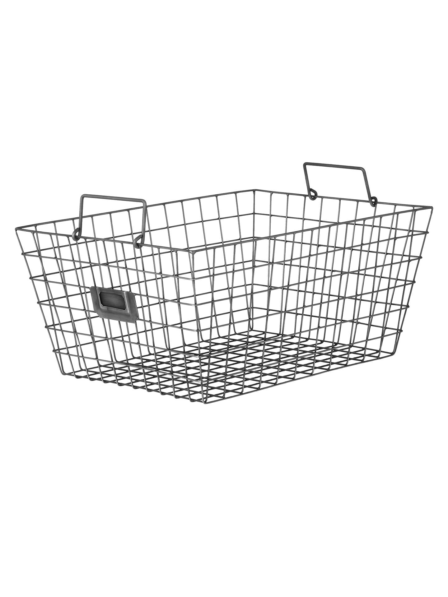 Croft Collection Antique Wire Basket, Large at John Lewis