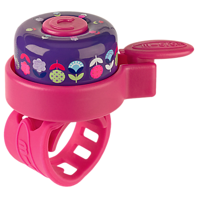 Micro Scooter Floral Bell, Pink/Purple