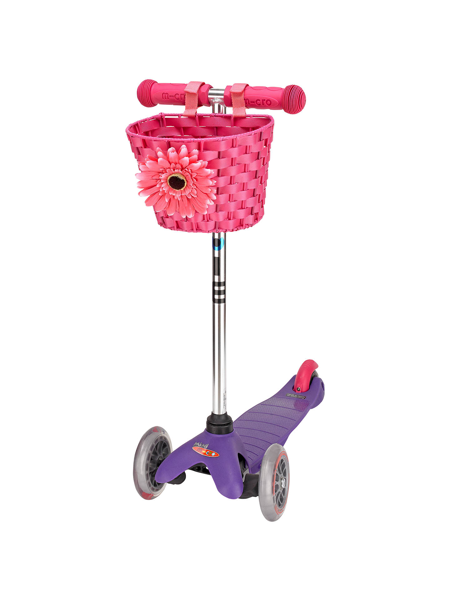 BuyMicro Scooter Basket, Pink Online at johnlewis.com