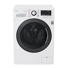 Buy LG FH4A8FDH2N Freestanding Washer Dryer, 9kg Wash/6kg Dry Load, A Energy Rating, White Online at johnlewis.com