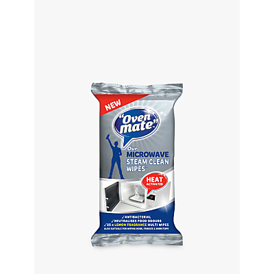 Oven Mate Steam Clean Microwave Wipes, Pack of 25