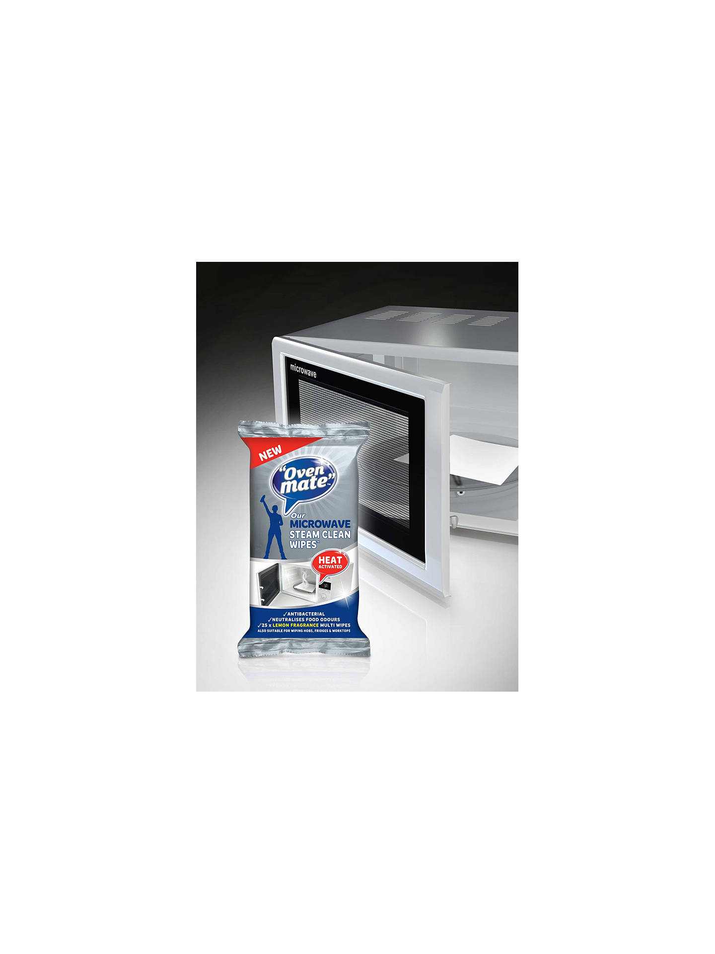 BuyOven Mate Steam Clean Microwave Wipes, Pack of 25 Online at johnlewis.com
