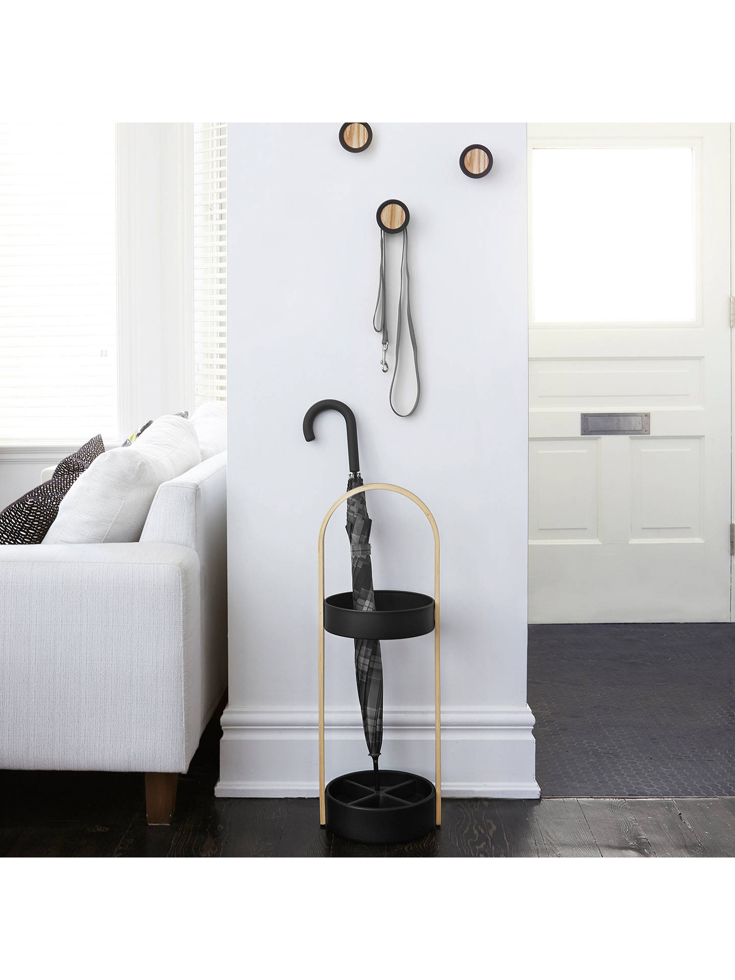 Buy Umbra Hub Hooks, Set of 3, Black Online at johnlewis.com