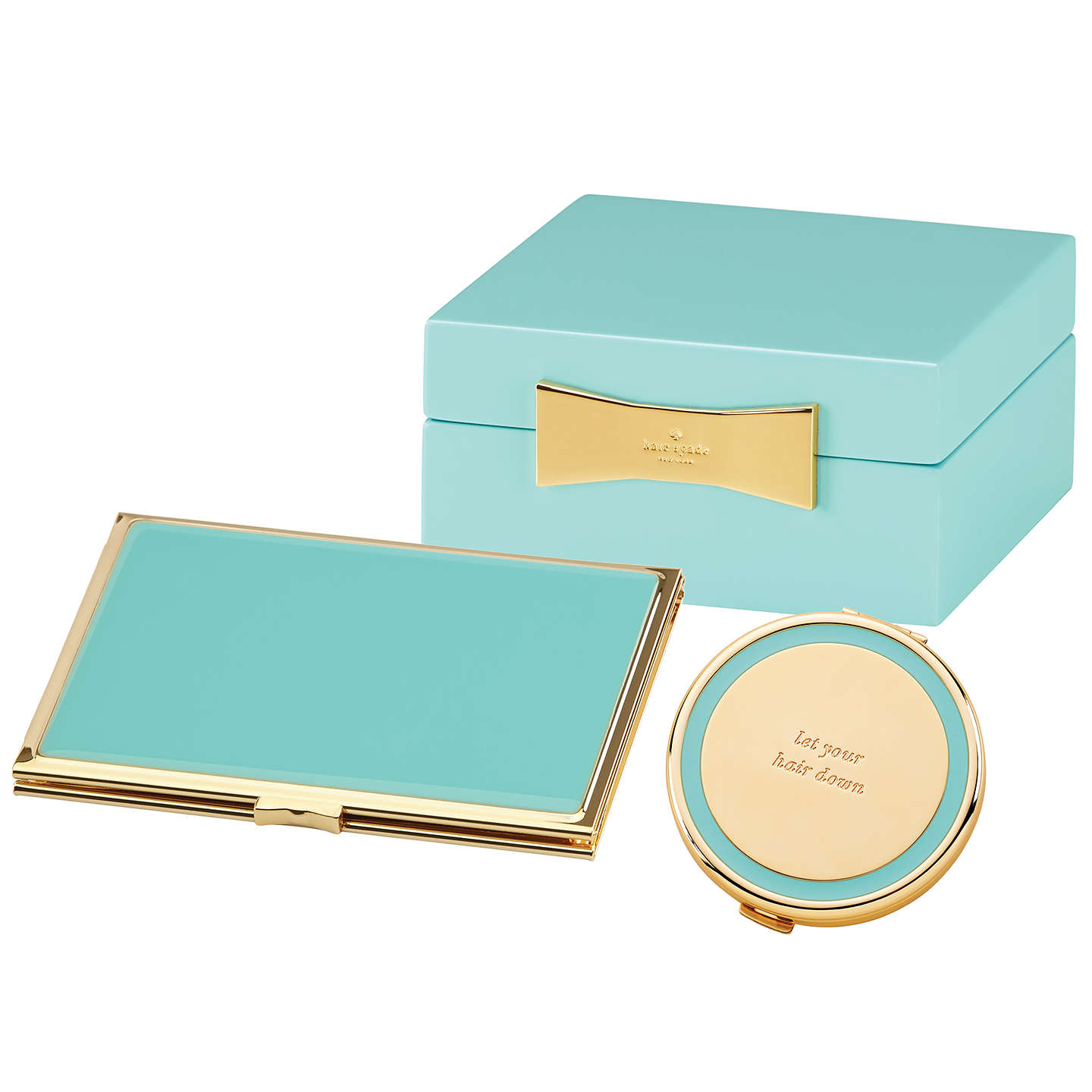 "Buykate spade new york Hinged Pocket Frame, 2.5 x 3.5"", Turquoise Online at johnlewis.com"