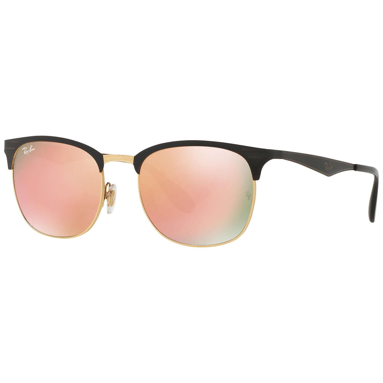 Ray-Ban RB3538 Half Frame Square Sunglasses at John Lewis