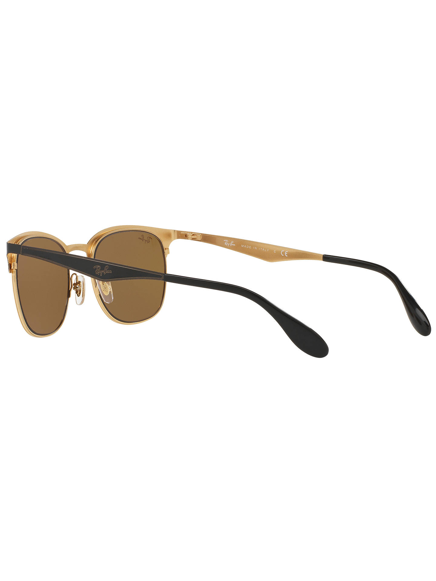 BuyRay-Ban RB3538 Half Frame Square Sunglasses, Black Online at johnlewis.com