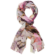 Buy Chesca Orchid Panel Print Chiffon Scarf, Lilac/Multi Online at johnlewis.com