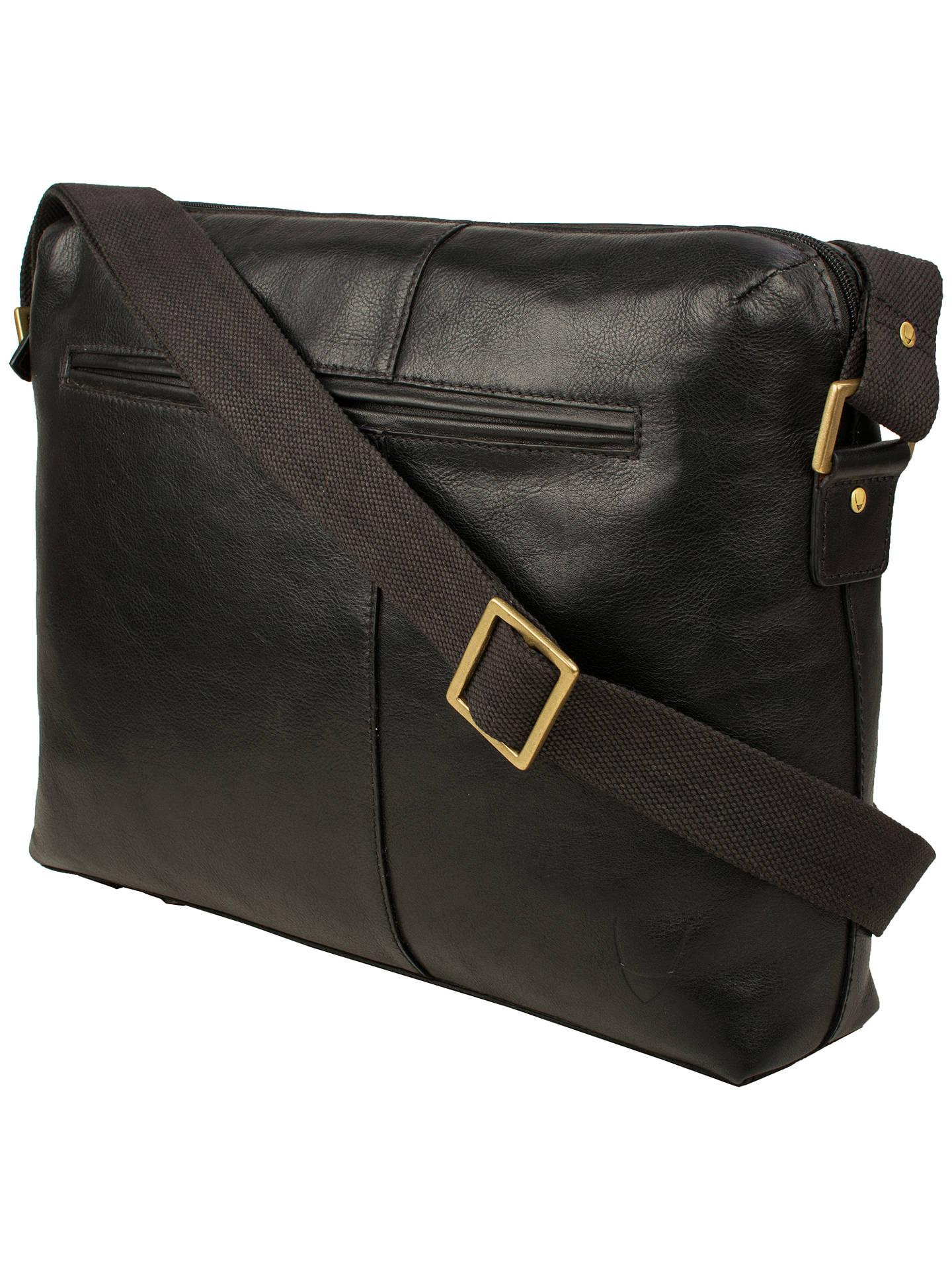 4eede501af8 Hidesign Fitch 02 Leather Zip-Up Shoulder Bag, Black