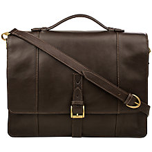 Buy Hidesign Maverick Leather Briefcase, Brown Online at johnlewis.com
