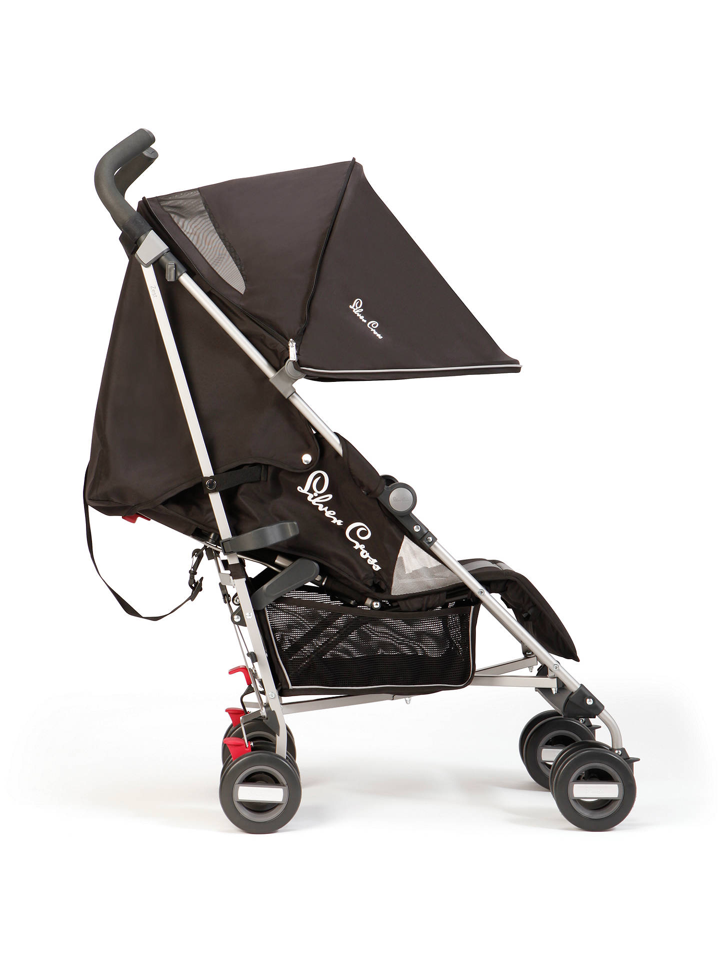 BuySilver Cross Zest Stroller, Black Online at johnlewis.com
