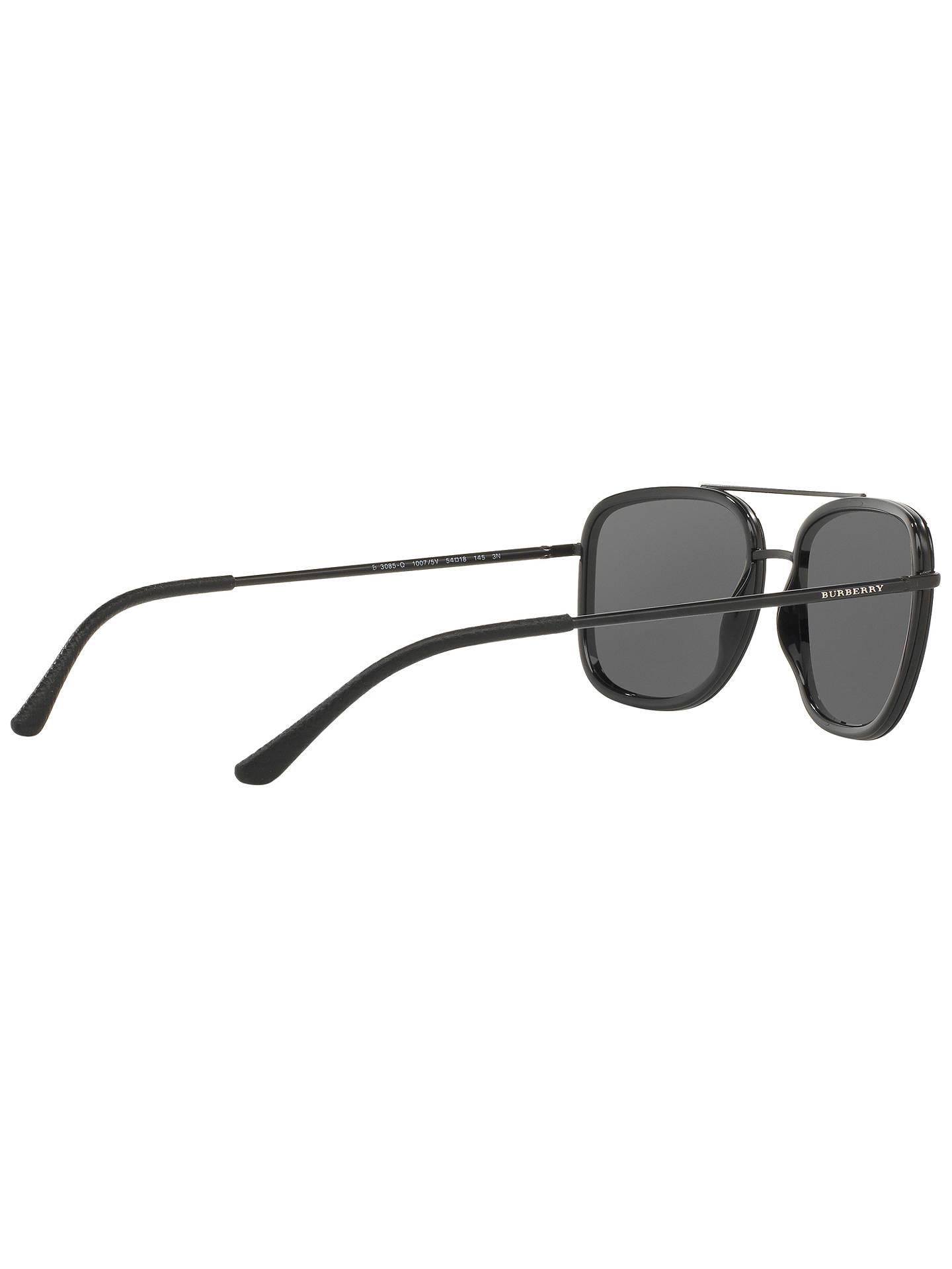 Buy Burberry BE3085 Square Sunglasses, Black Online at johnlewis.com