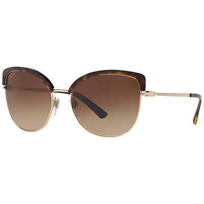BVLGARI BV6082 Cat's Eye Half Frame Sunglasses