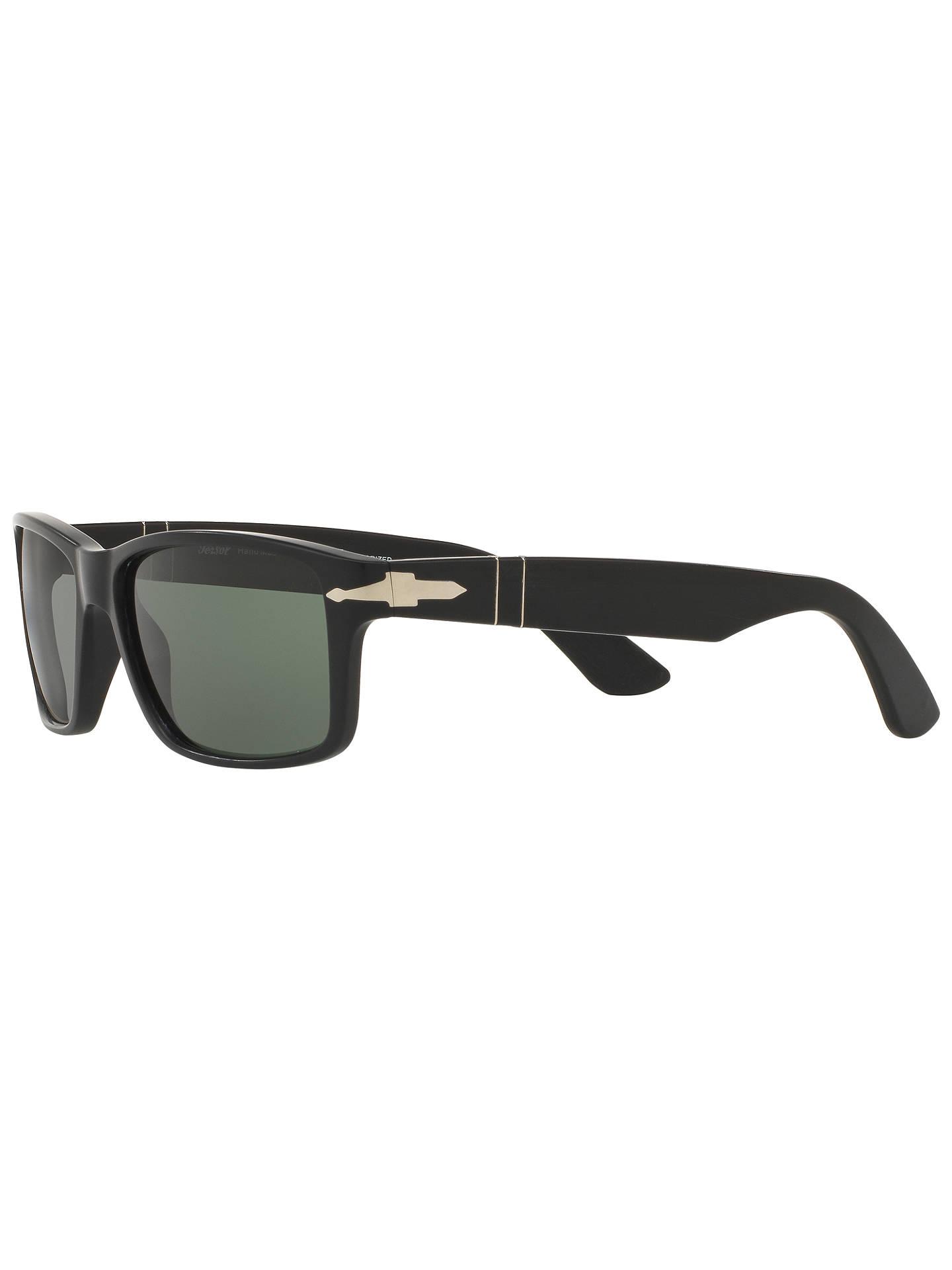 6c2253ac4185 ... Buy Persol PO3154S Polarised Rectangular Sunglasses, Black Online at  johnlewis.com ...
