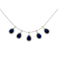 Buy Monet Teardrop Glass Crystal Necklace Online at johnlewis.com