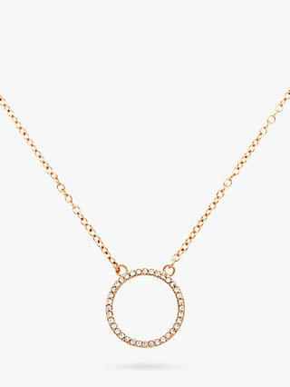 Melissa Odabash Swarovski Crystal Circle Pendant Necklace