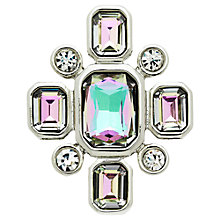 Buy Monet Vitrail Glass Crystal Brooch, Silver/Multi Online at johnlewis.com