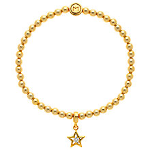 Buy Melissa Odabash Star Bead Bracelet, Gold Online at johnlewis.com