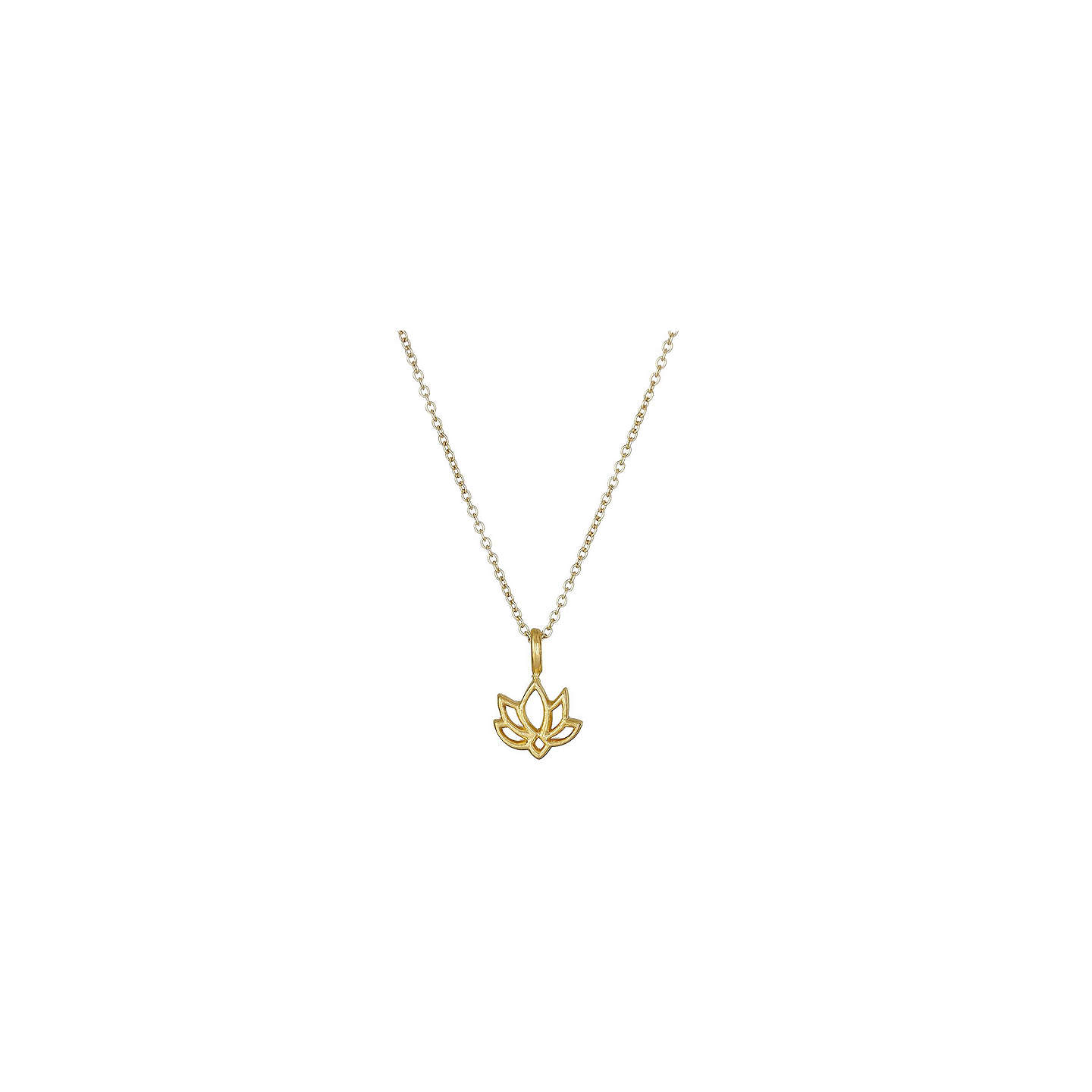 Dogeared New Beginnings Happy Lotus Reminder Pendant Necklace Gold