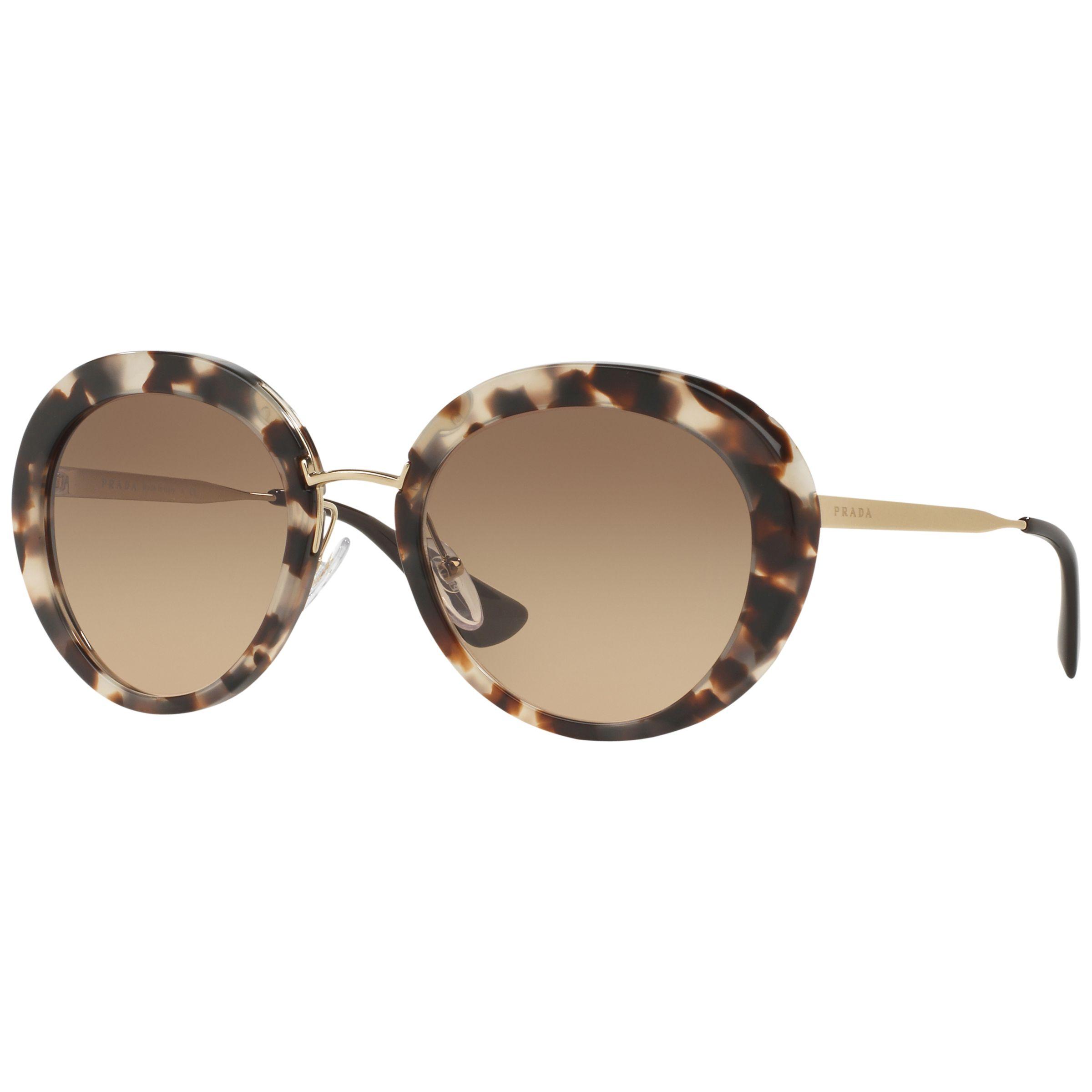 db802230e64b Prada PR16QS Cinema Oval Sunglasses, Havana at John Lewis & Partners