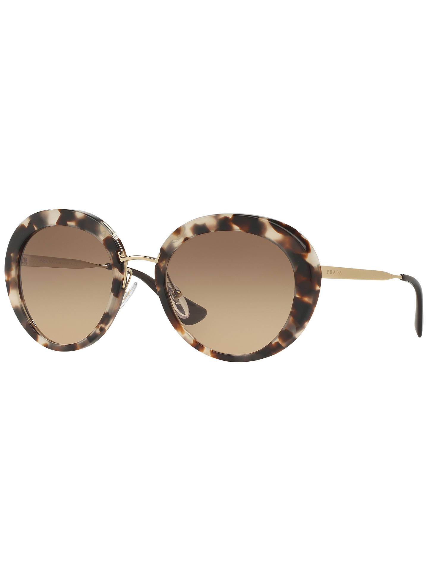 0ffa39378edb Buy Prada PR16QS Cinema Oval Sunglasses, Havana Online at johnlewis.com ...