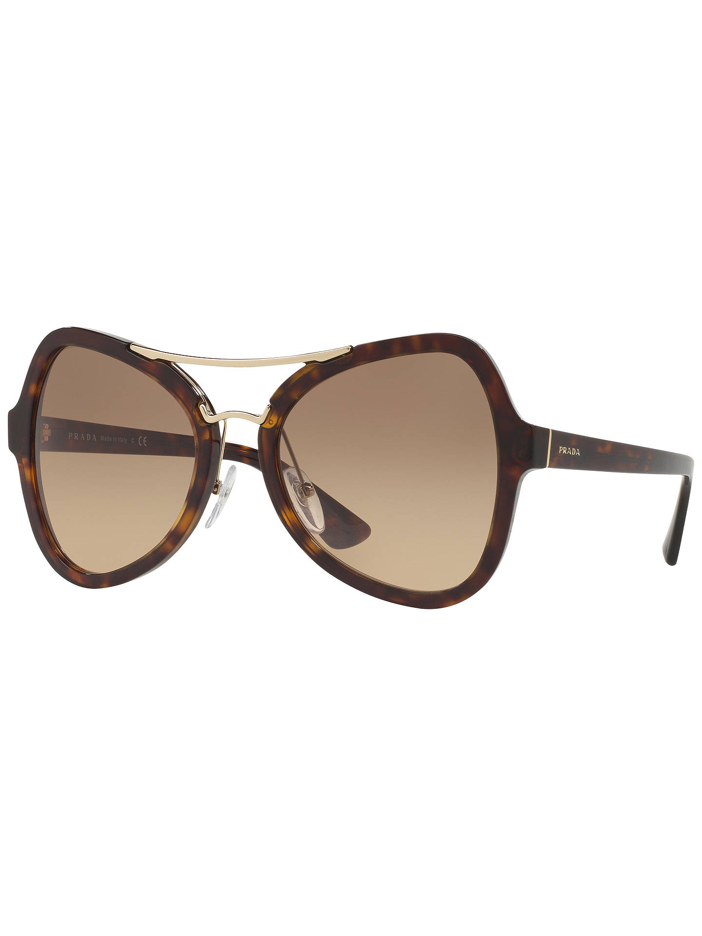 9199f2f8c Buy Prada SPR18S Gradient Cat's Eye Sunglasses, Tortoise Online at  johnlewis. ...