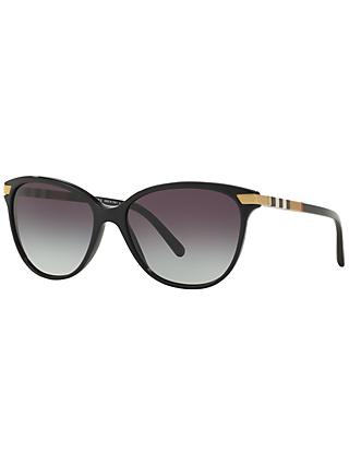 Burberry BE4216 Cat's Eye Gradient Sunglasses, Black