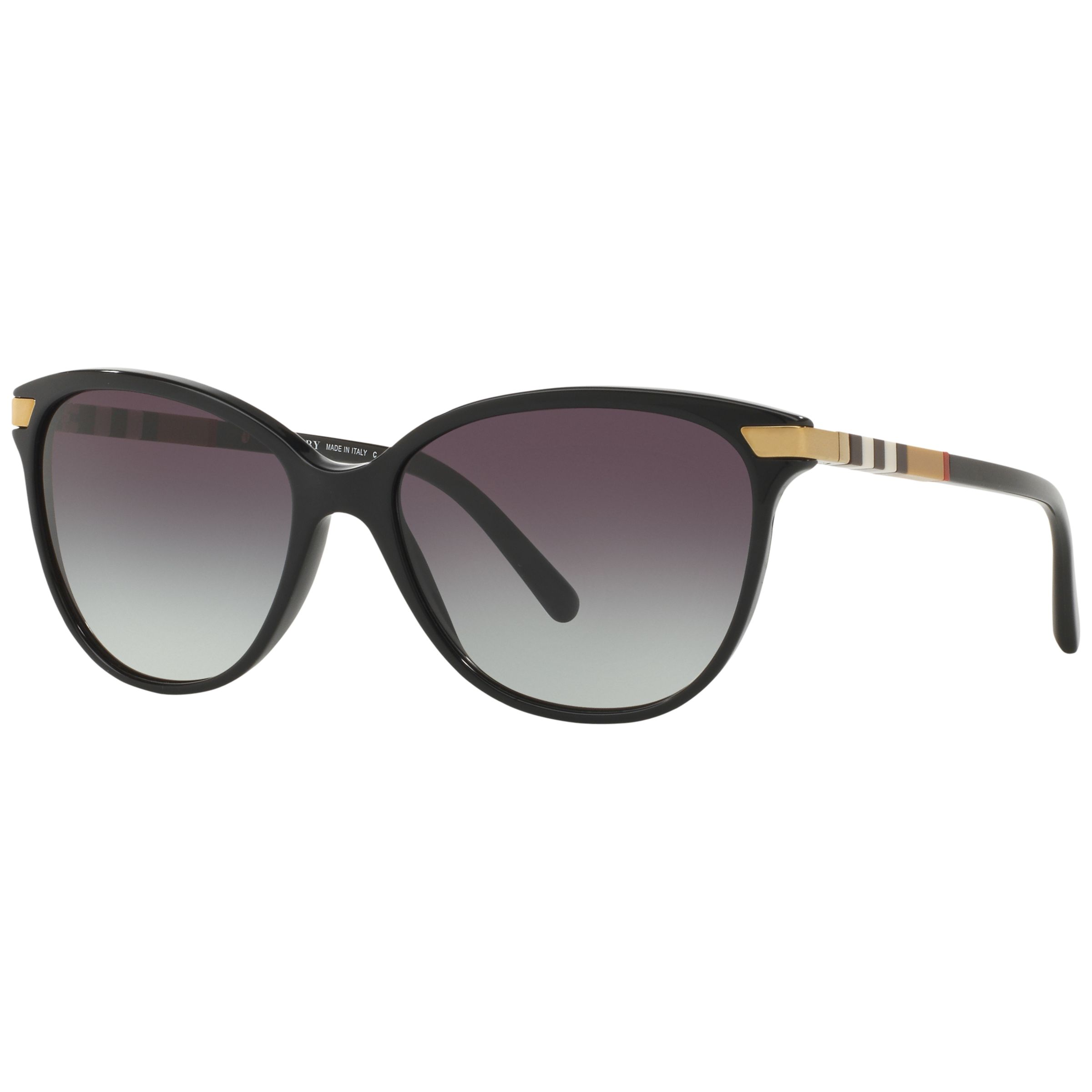 Burberry Burberry BE4216 Cat's Eye Gradient Sunglasses, Black